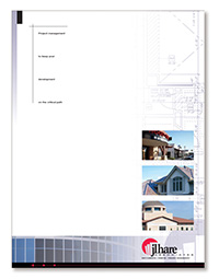 Cover of a brochure for construction client of Porter PR & Marketing