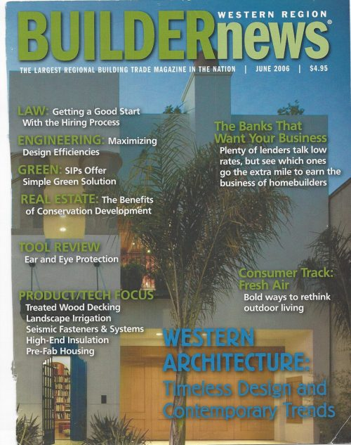 Cover story for PR architecture client - Builder News
