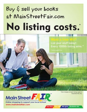 Flyer created for Main Street Fair - a Porter PR & Marketing Clinet