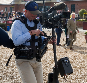 Image of media cameraman filming