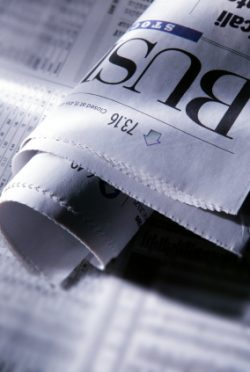 Image of newspaper's business section