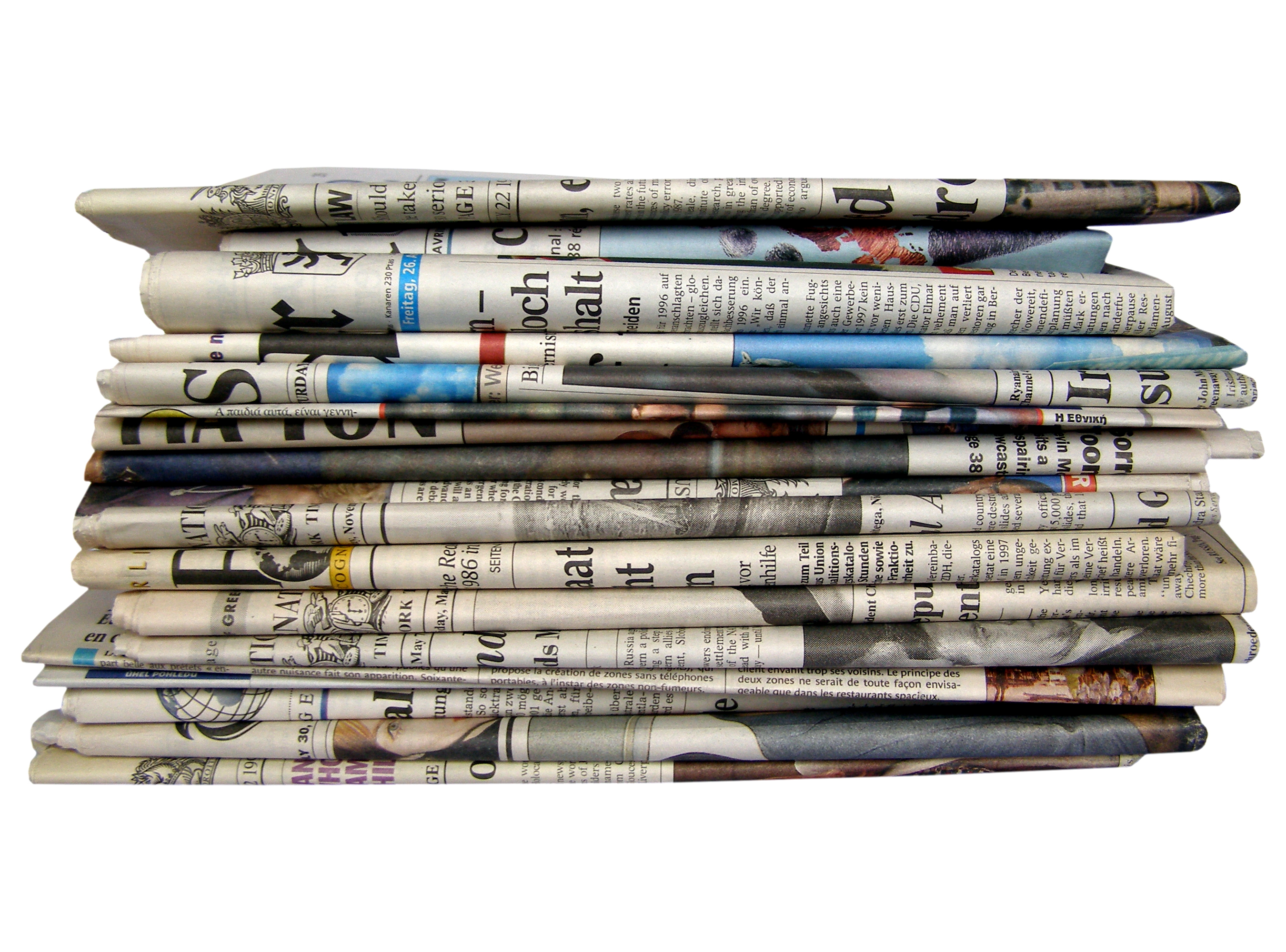 Stack of newspapers for blog Top 5 PR Tips - Media Coverage