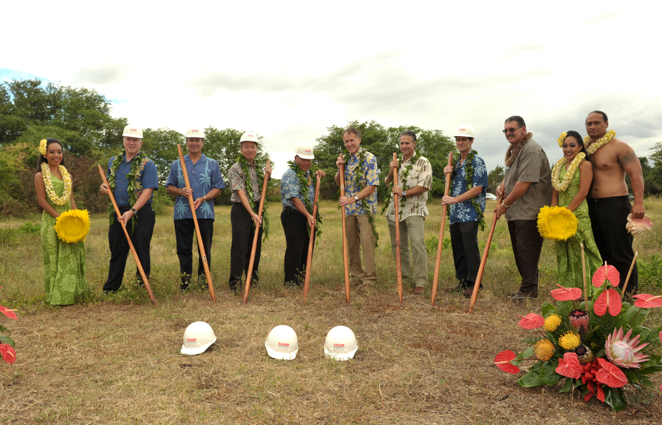 Groundbreaking ceremony in Hawaii for the Courtyard Marriott Maui