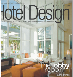 Image of cover story in Hotel Design magazine Porter PR & Marketing got for an architecture client