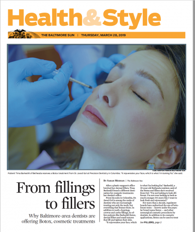 Newspaper article of a dentist giving injections