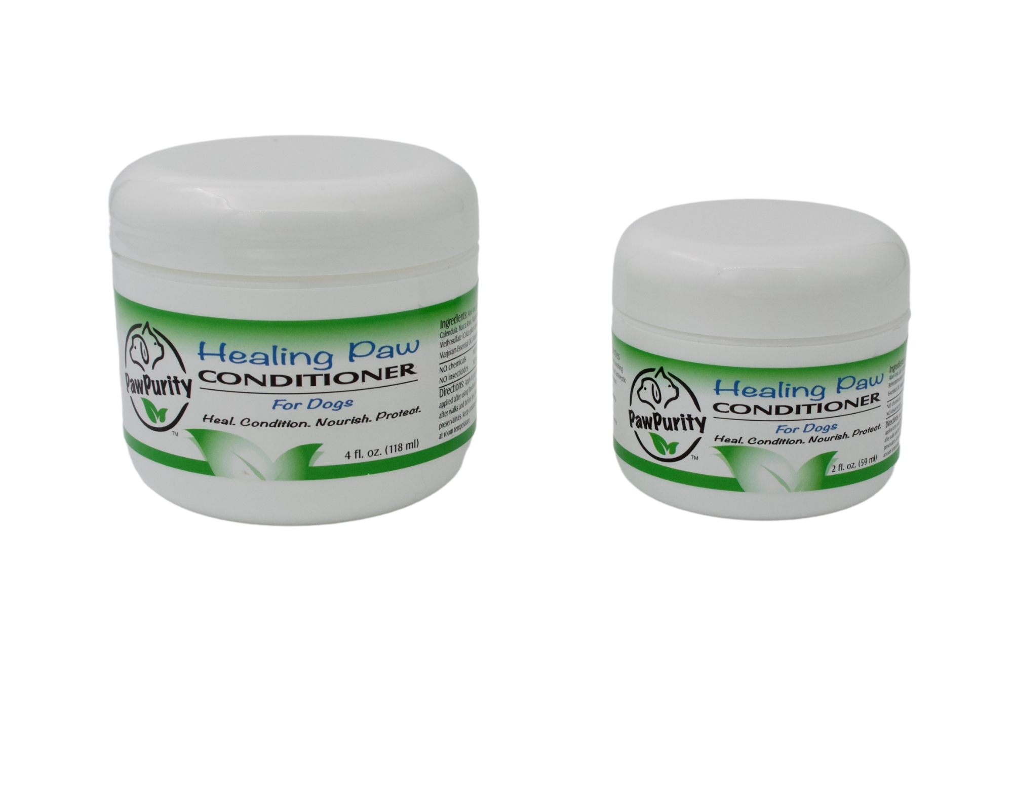 Image of PawPurity Healing Paw Conditioner in various sizes